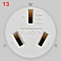 Alumbra 20A split-phase socket