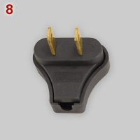 Brazilian 15A unearthed flat blade plug