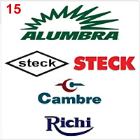 logos of Alumbra, Steck, Cambre and Richi