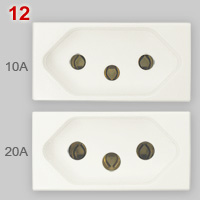 Comparison of NBR 14136 10A and 20A sockets
