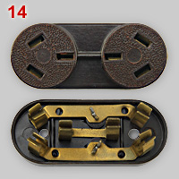 classic Uruguayan earthed dual outlet plug