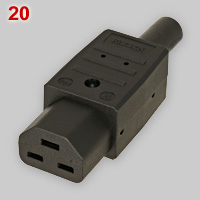 IEC 60320 C21 appliance connector