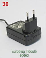 Palm PDA charger with Europlug type wall plug