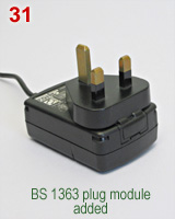 Palm PDA charger with BS 1363 type wall plug