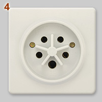 Belgian 400V, 32A 5-pin socket