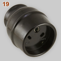 Vynckier 15A-380V single phase earthed connector