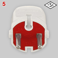 Asymmetrical rewirable CEE 7/17 plug