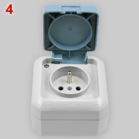 ABB Elektro Praga IP54 socket with lid
