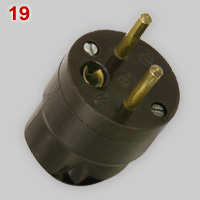 Czechoslovak 16A earthed plug