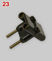Czechoslovak 3-way multi-plug, not earthed