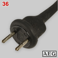 AEG Bakelite and rubber plug