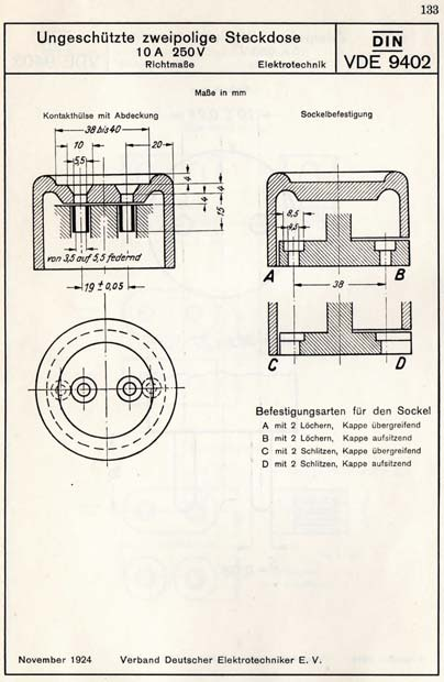 Sheet with DIN-VDE 9402 dimensions