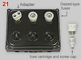 Diazes fuse box with adapter