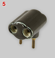 Steatite 2-way multi-plug