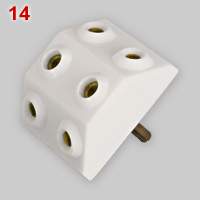 White resin 3-way multi-plug