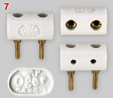Porcelain multi-plug made by Oger