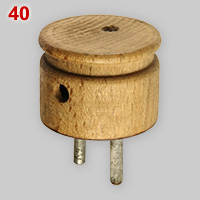 Wooden plug made in 1943