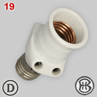 Bender & Wirth adapter for E27 lamp socket