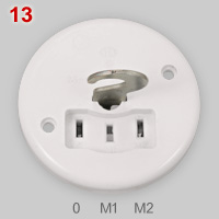 Danish lamp socket, classic model
