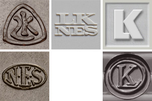 Logos of Lauritz Knudsen and NES