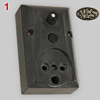 Danish classic  socket with push button switch