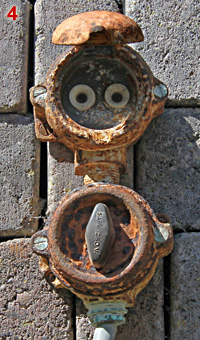 Old Frencj, rusty socket and switch