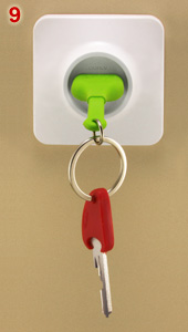Qualt keu ring and key holder