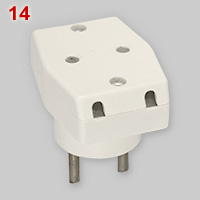 3-way adapter plug for unearthed 2-pin plugs