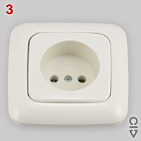 CEE 7/1 socket with 15 mm deep recess
