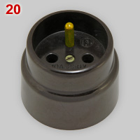 Bakelite socket, 10A-250V, made by L'Ébénoïd