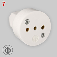 Greece connector  for Italian type 10A plugs