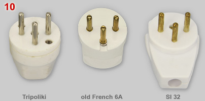 Comparison of tripoliki, Israeli and old French 3-pin plug