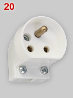 Swedish lamp connector plug