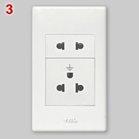 Socket for type A, B and C plugs