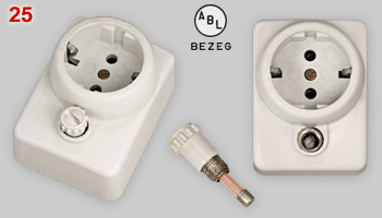 ABL fused Schuko socket