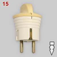 Busch-Jaeger Schuko plug with switch