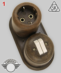 Stotz-Kontakt schuko socket with Corodex Bakelite cast