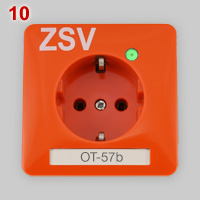 PEHA ZSV Schuko socket, orange