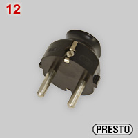 PRESTO Schuko plug made by Gebr. Vedder