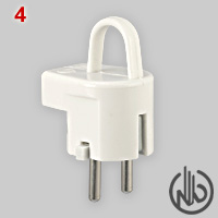 Schuko plug with grip