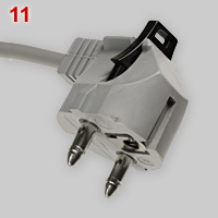 Kalthoff special Schuko plug that can be locked in socket