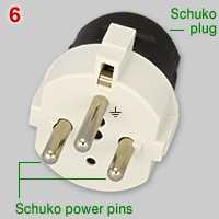 Thai Schuko adapter wiith Schuko plug